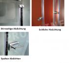 10 mm Aufsteckprofile / 12 mm Bürstenlänge, Glastürdichtung, Glaskantenprofil, Spaltdichtung