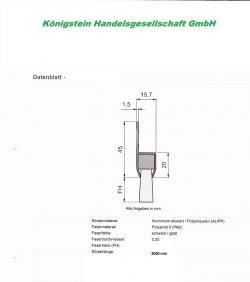 eine Türdichtung dreireihig Standard 180° Winkel ,  200cm Breite Schädlingsabwehr, Türbesen