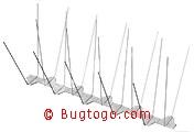 Seemöwenabwehr, Taubenabwehr, Silbermöwen, Tauben 4-reihig Spitzen